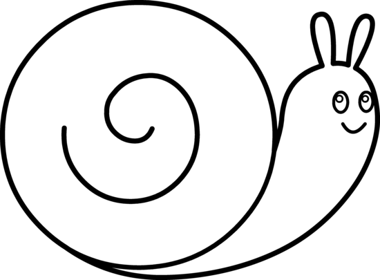 clip black and white stock Snail Clipart Coloring Page Free collection