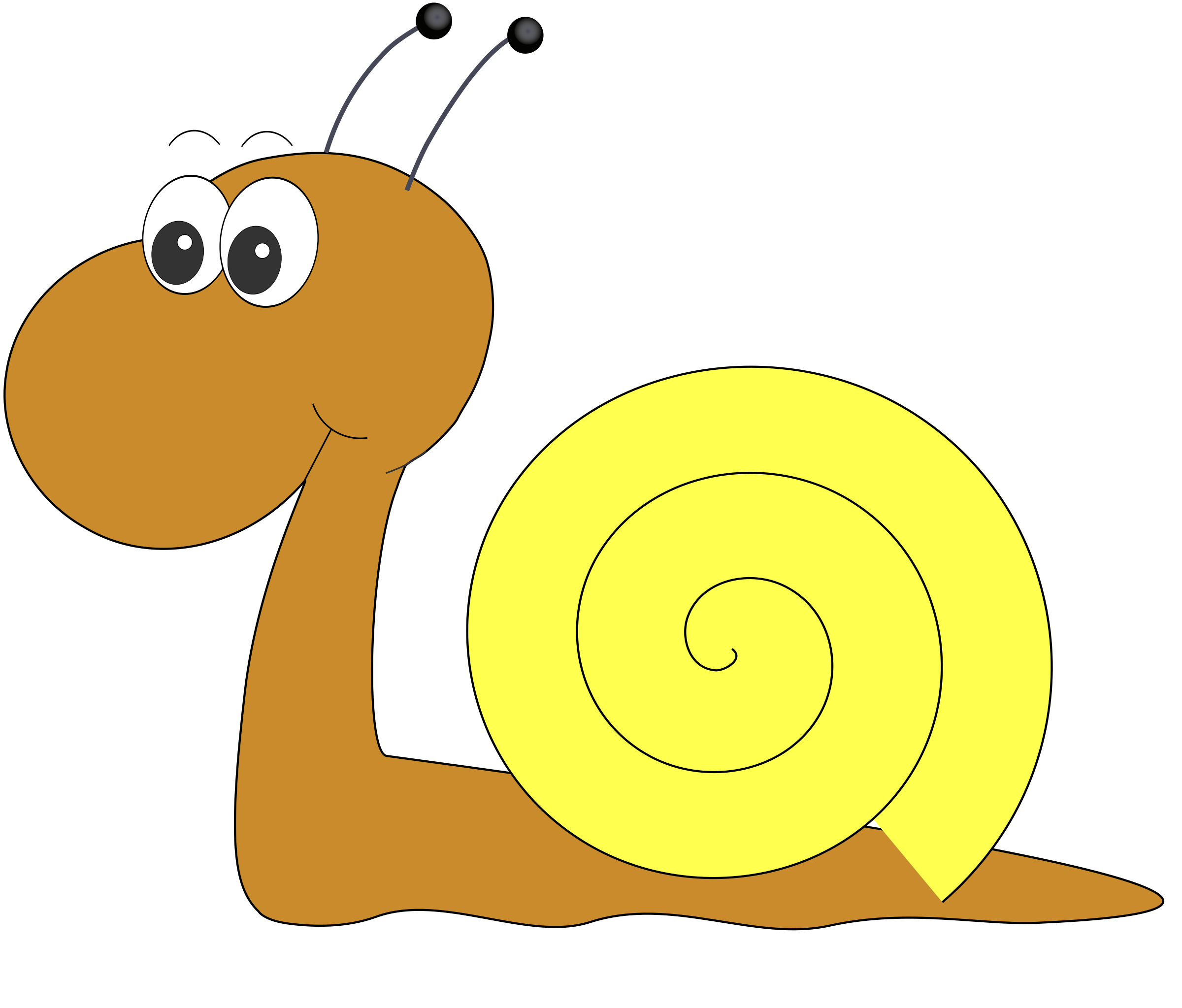 svg black and white library Schnecke by doppelg free. Snail clipart comic
