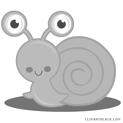 clip free library Cute Snail Animal free black white clipart images clipartblack