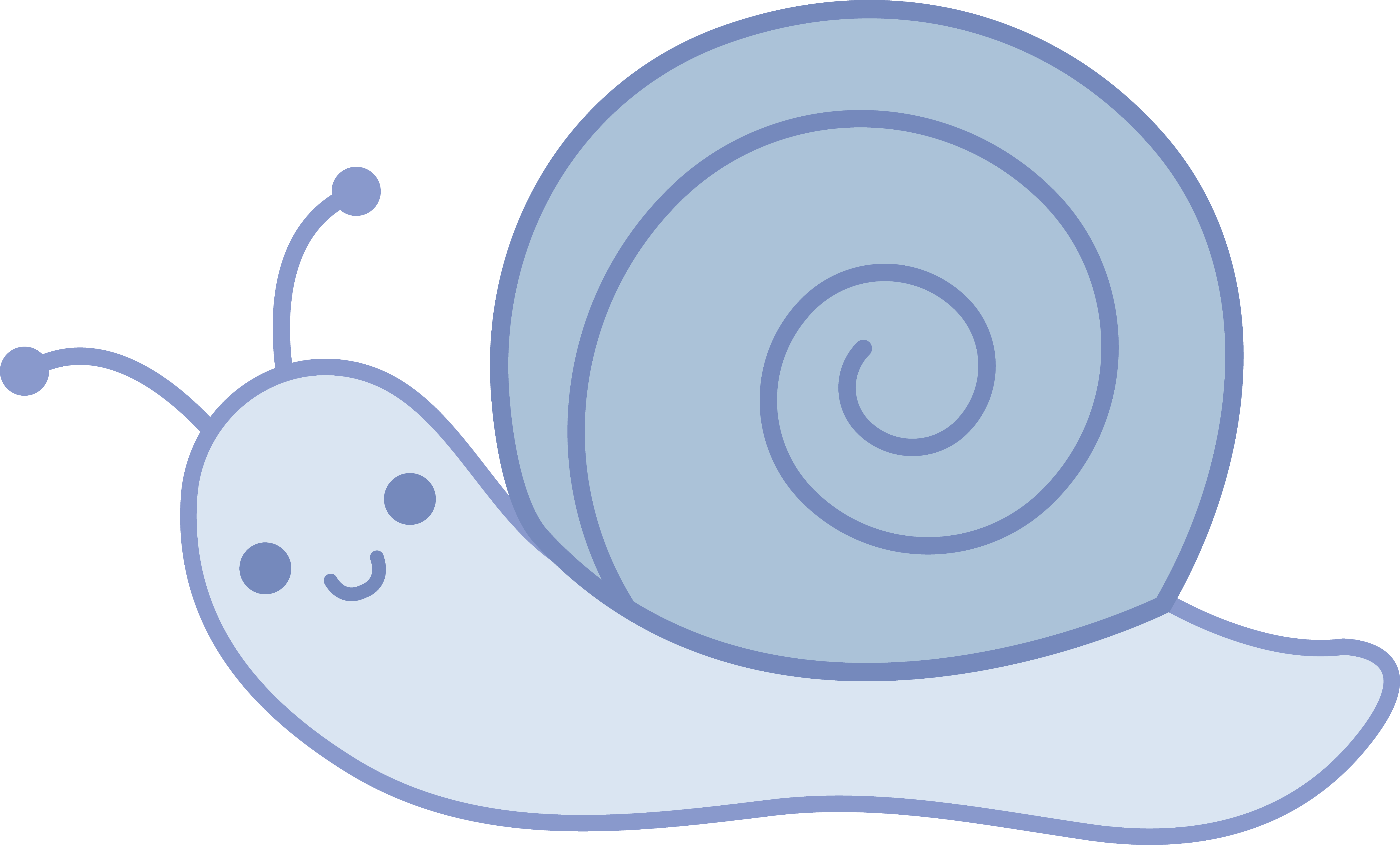 picture black and white download Cute Blue Snail