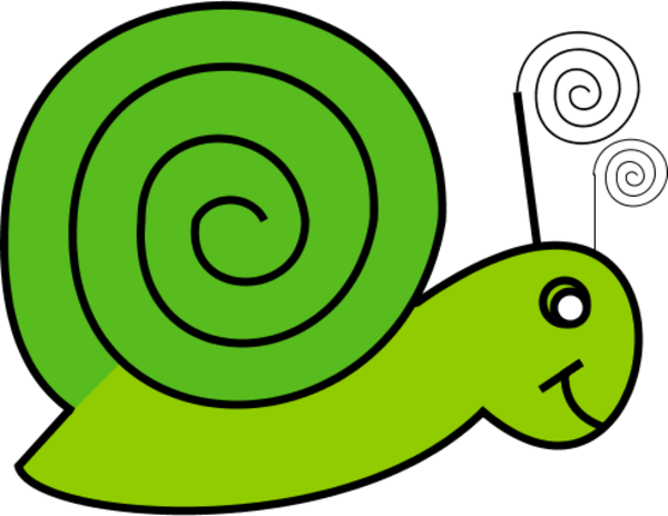 png black and white library Snail clipart slow