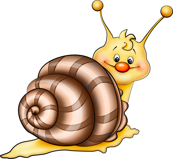 transparent library Brown Snail Cartoon PNG Picture