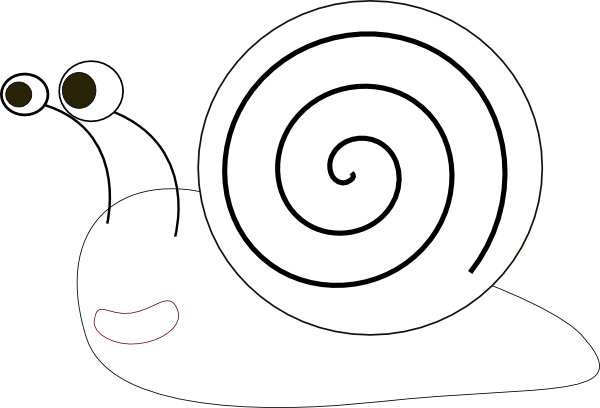 graphic free Snail Outline Clip Art at Clker