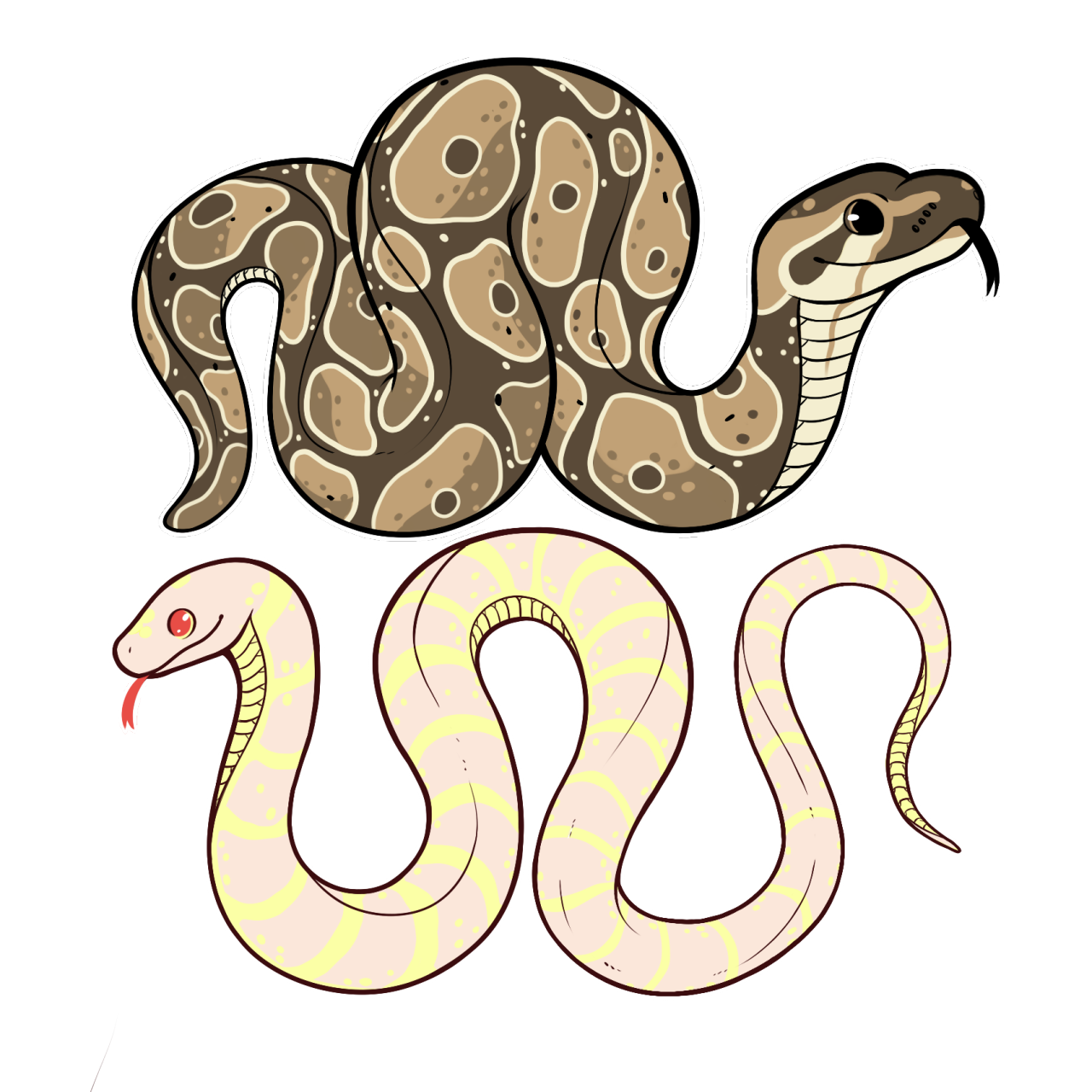 jpg library stock Snakes are photo block. Drawing snake cute