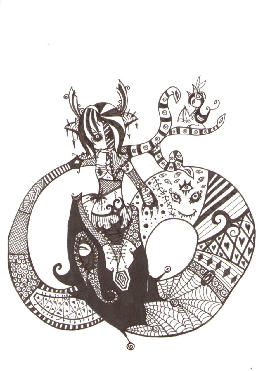 clipart black and white download Snake Goddess by DeathlyDolls on DeviantArt