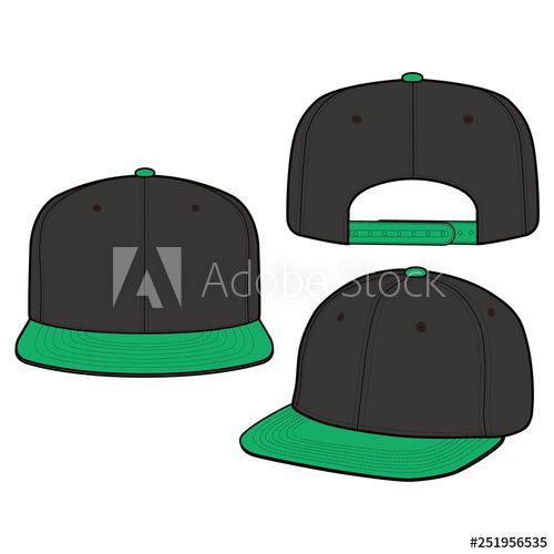 image transparent stock Cap fashion flat mockup. Snapback vector
