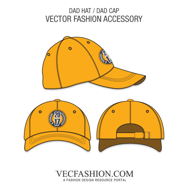 banner royalty free library Dad Hat or Dad Cap Template