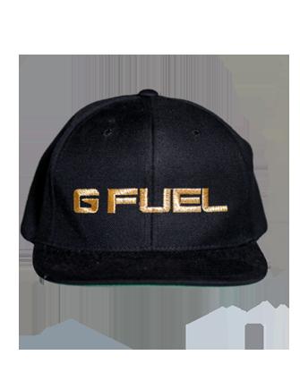 clip art stock Snapback vector flat bill hat. Gold g fuel logo