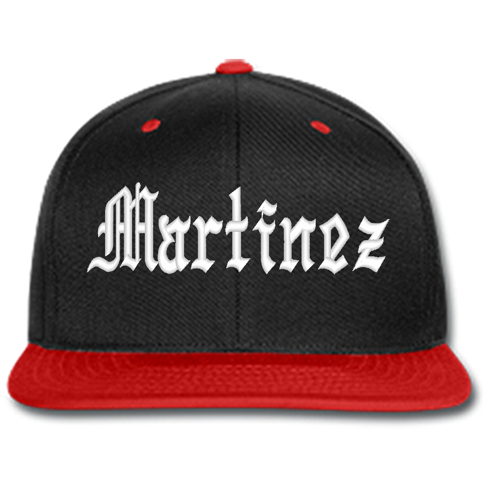 banner free library martinez embroidered beanie or SNAPBACK hat
