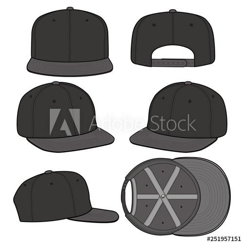 image transparent stock Snapback vector. Cap fashion flat mockup
