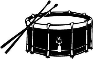 png black and white Free drum cliparts download. Snare clipart