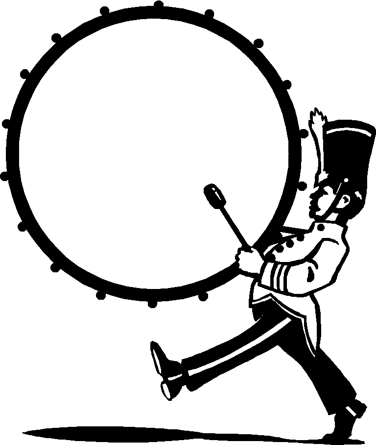 clip black and white Drumline marching band google. Snare clipart