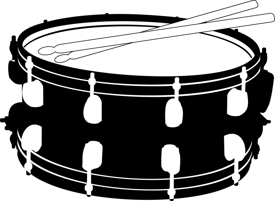 graphic library stock Snare Drum PNG Black And White Transparent Snare Drum Black And