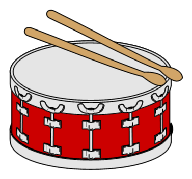 image black and white snare drum clipart #62472554