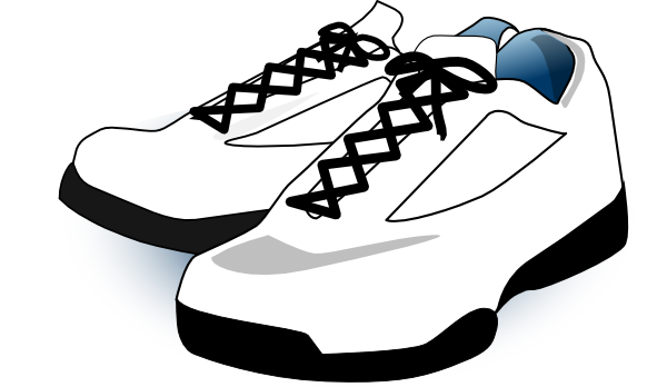 svg royalty free Shoes black and white. Tennis shoe clipart