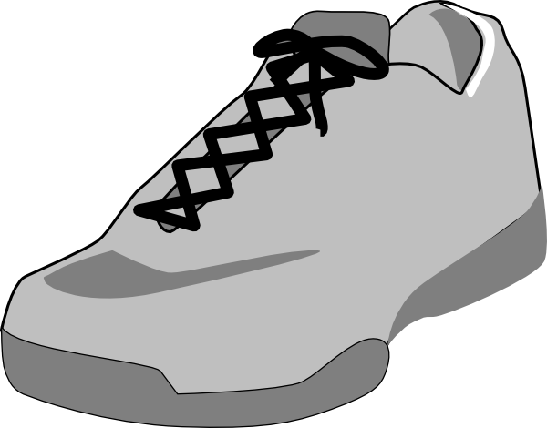 picture library stock Gym Shoes Clipart single shoe