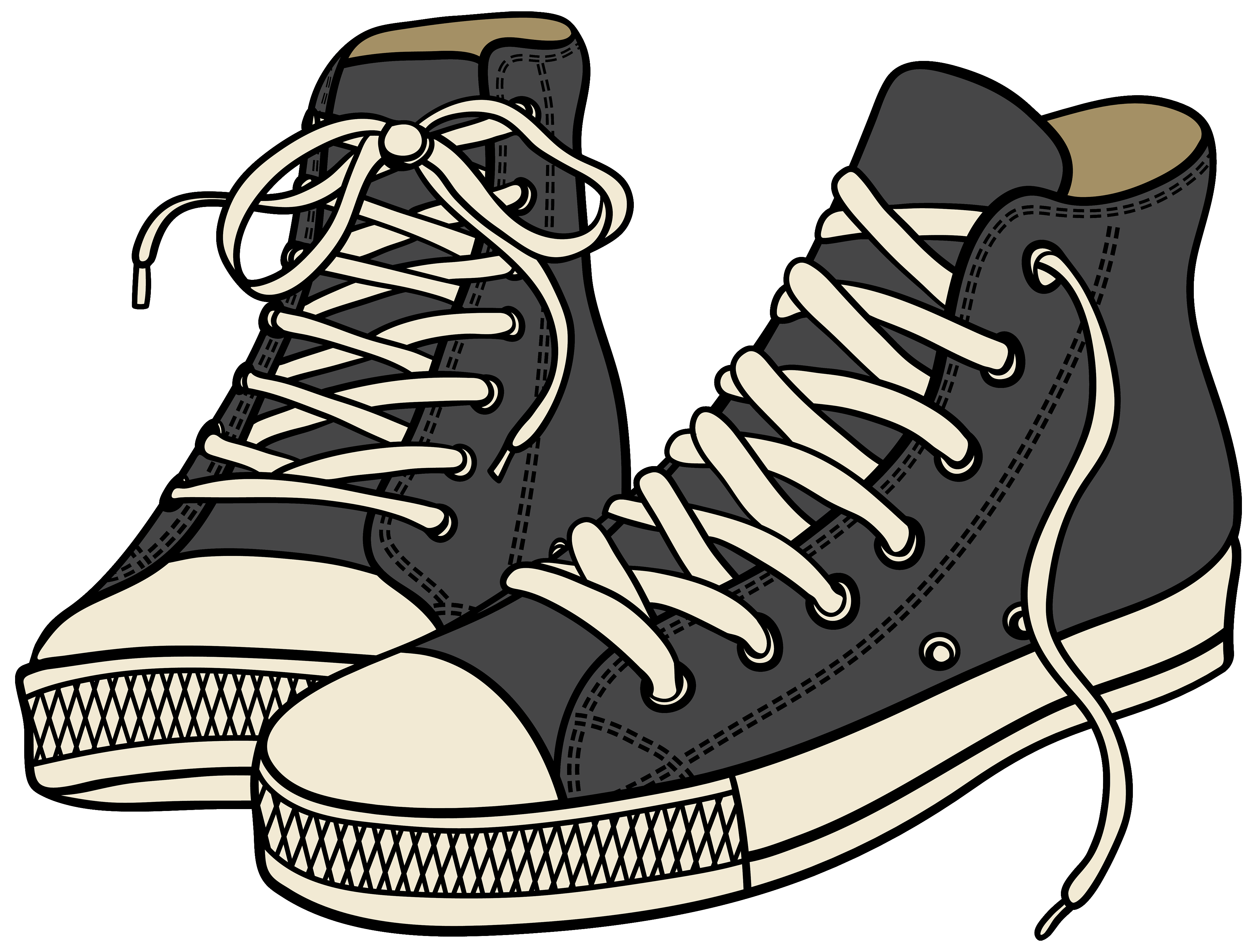svg royalty free Sneakers clipart. Grey high png best