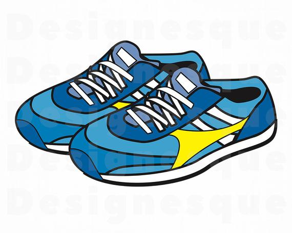 clip free download Svg shoes outline files. Sneakers clipart