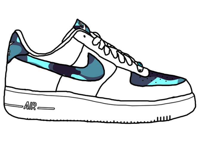 royalty free download Clipart frames illustrations hd. Drawing sneakers air force one