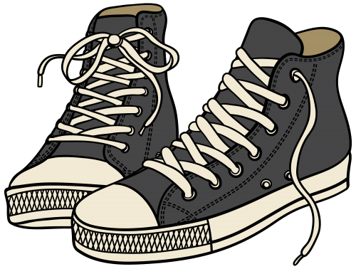 graphic transparent download sneakers clipart big shoe #83554294