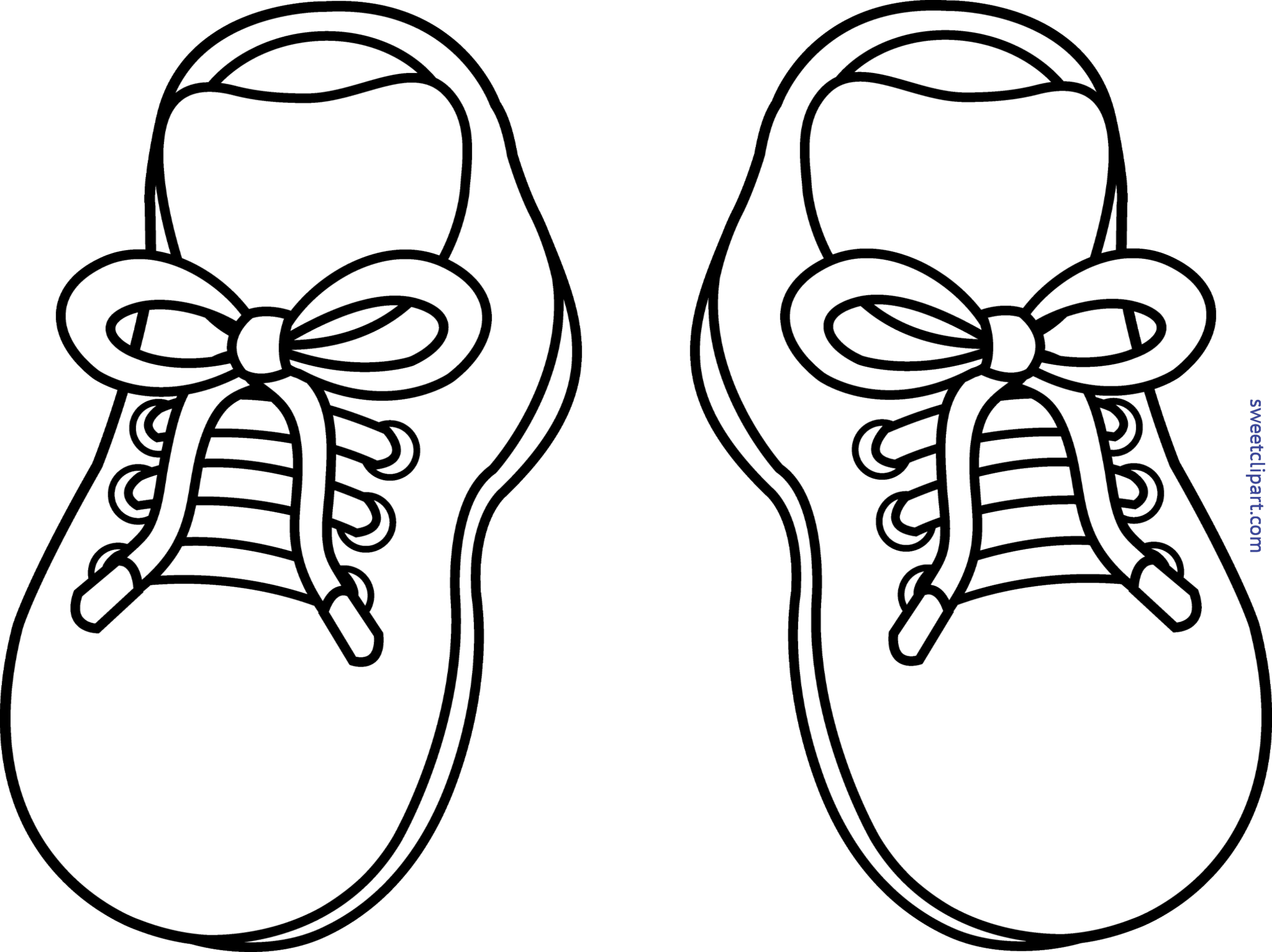 royalty free Sneakers Lineart Clip Art