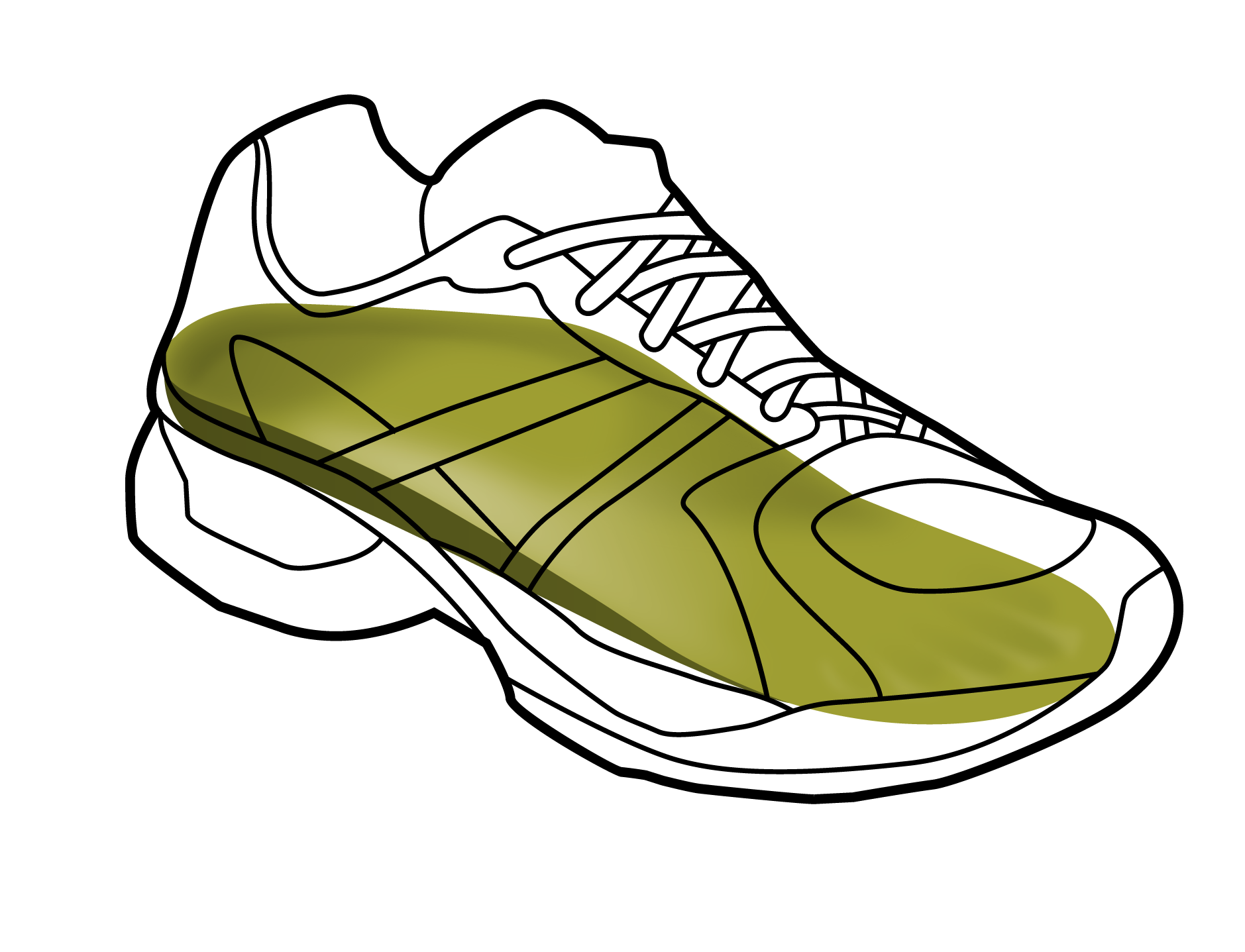 png royalty free download Drawing sneakers air force one. Running shoe at getdrawings