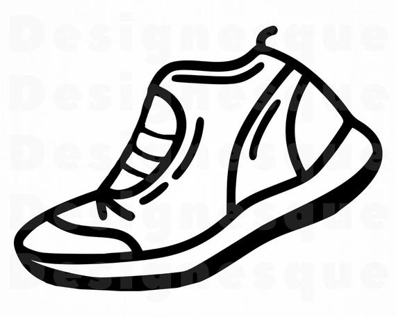 clipart Sneaker files for cricut. Sneakers clipart svg.