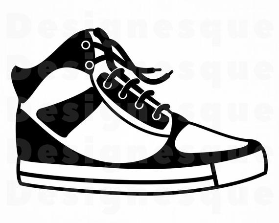 clip free library Sneakers clipart svg. Sneaker files for cricut.
