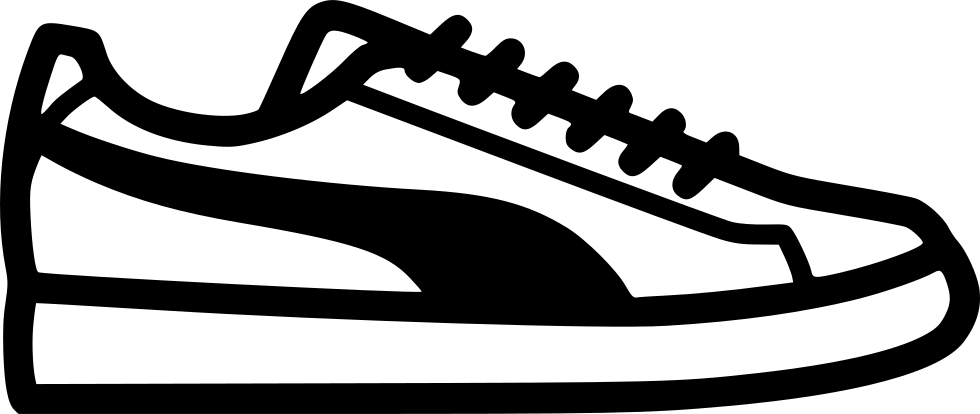 clipart black and white download Sneakers clipart svg. Puma png icon free.