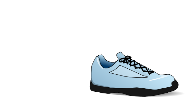 vector black and white download Clip art at clker. Tennis shoe clipart