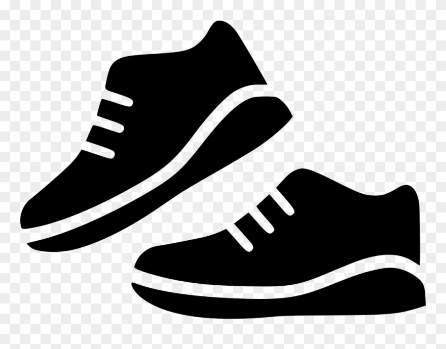 clipart library Sport shoes pair run. Sneakers clipart svg.