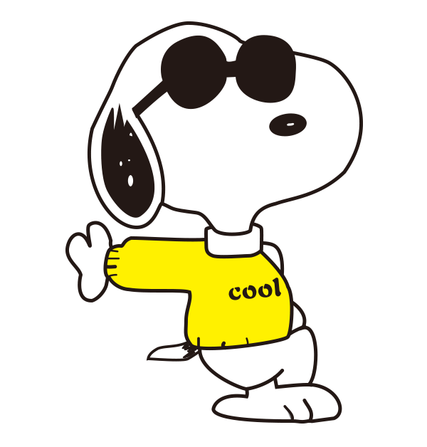 black and white stock Joe cool free on. Snoopy clipart.