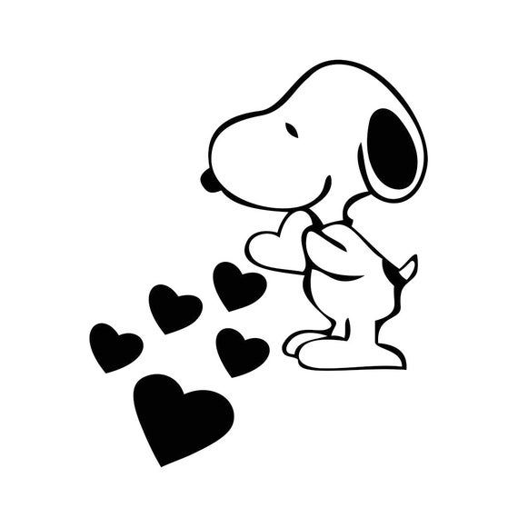 clip art free library Love hearts graphics svg. Snoopy vector