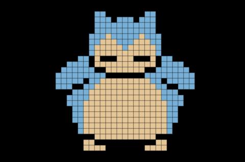 graphic freeuse library Pokemon Snorlax Pixel Art