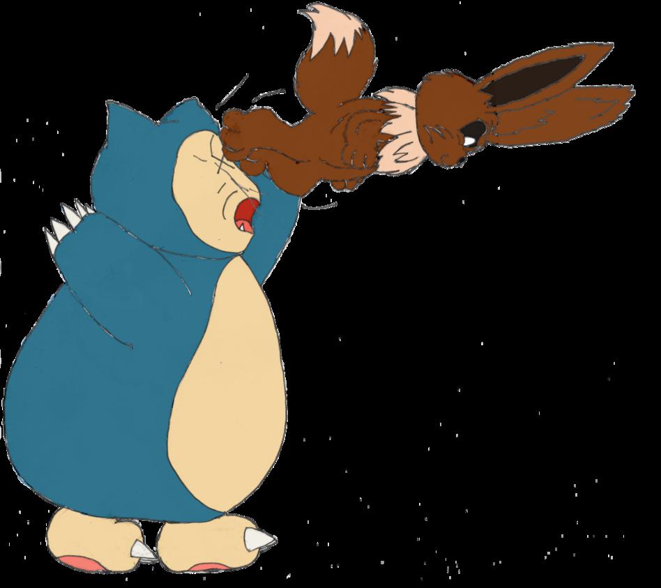 vector download Snorlax vs Eevee for DeerOnFire by unownace on DeviantArt