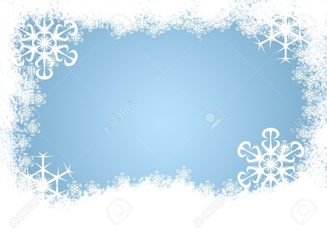 clipart transparent Winter in clip art. Snow borders clipart