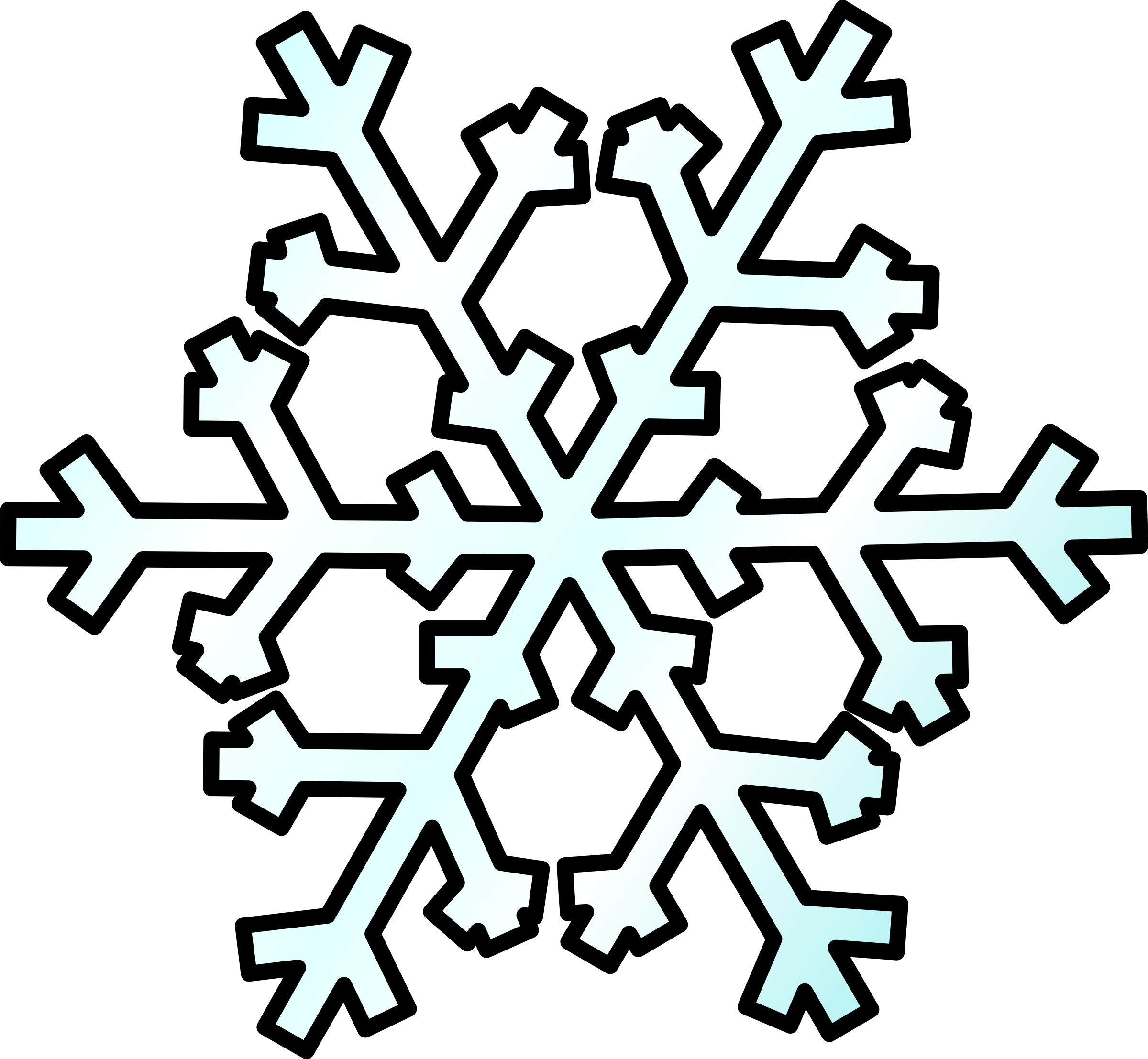 svg freeuse stock Weather symbols big image. Snow clipart.