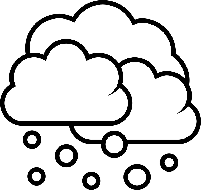 clipart royalty free Snow Cloud PNG Black And White Transparent Snow Cloud Black And