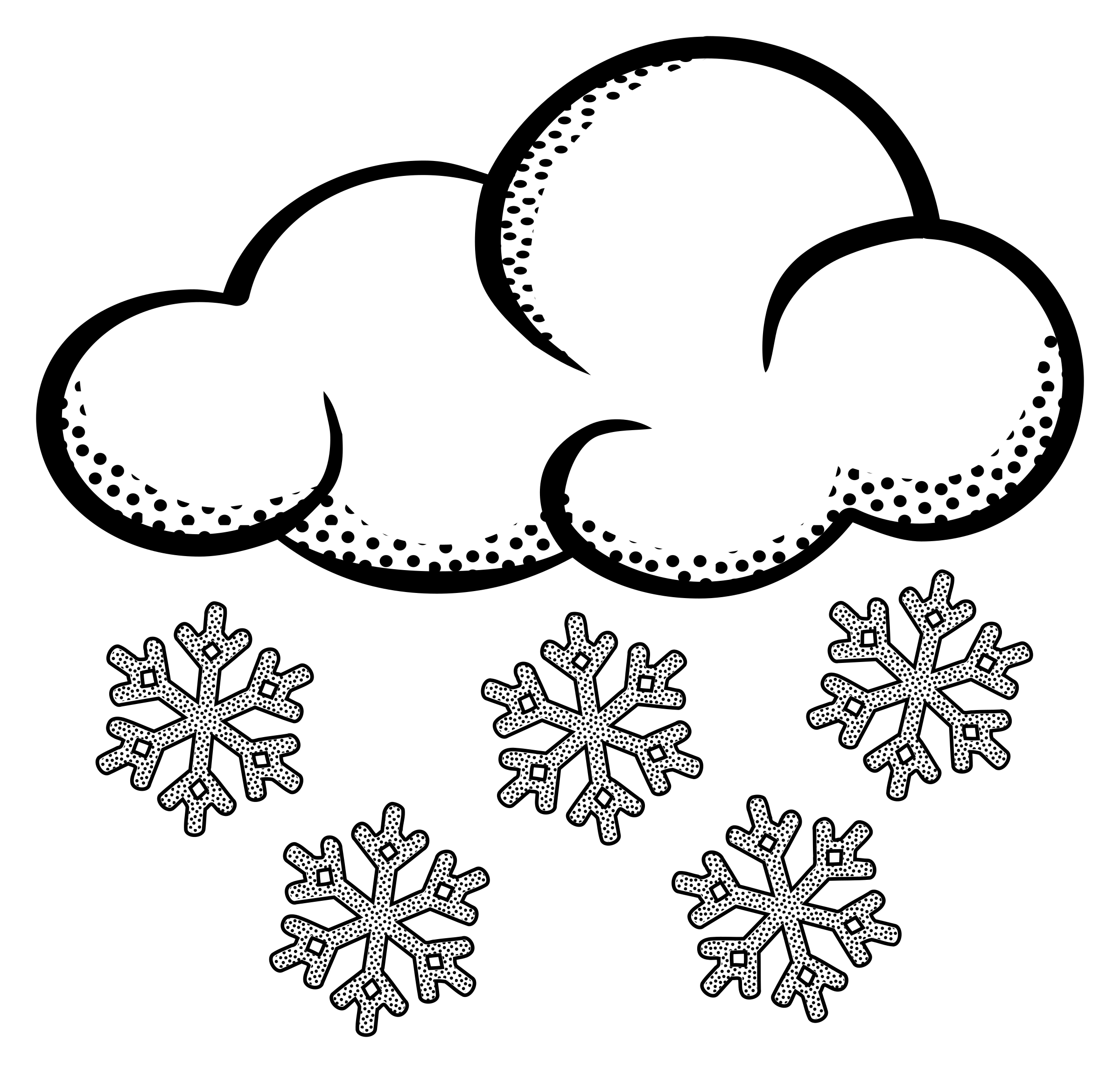 free Drawing snow. Clipart outline
