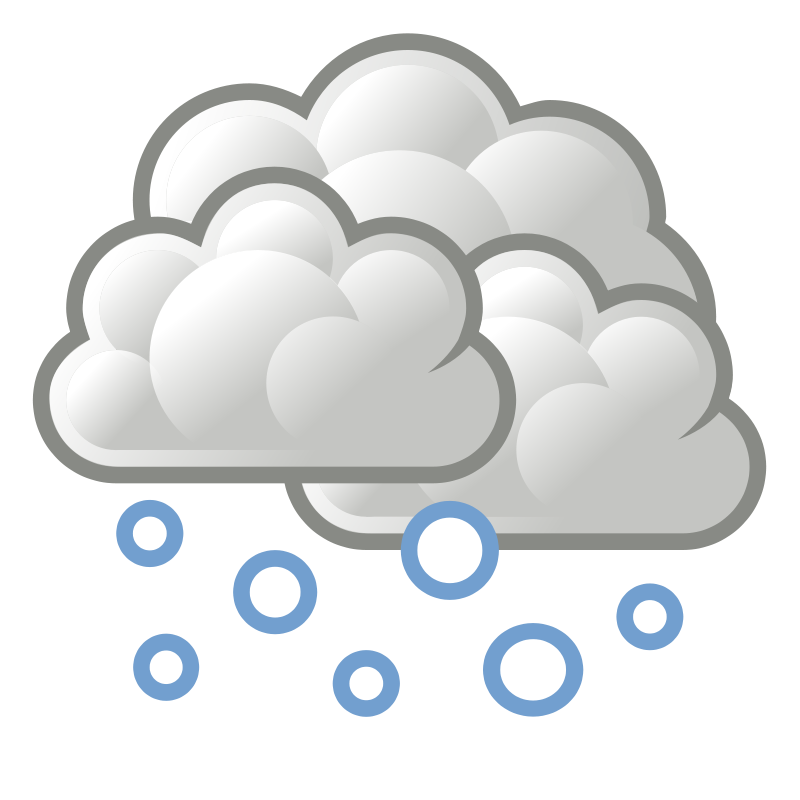 picture royalty free library Clipart snow snow cloud