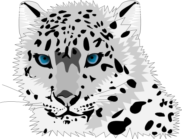 jpg library download Snow Leopard Clip Art at Clker