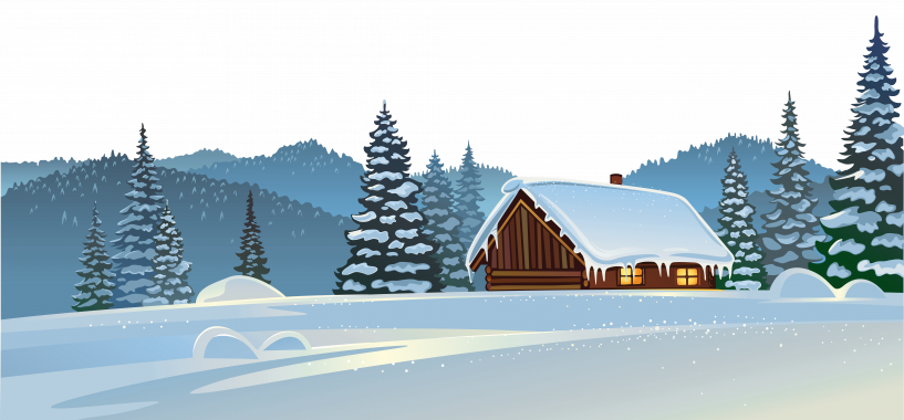 clip royalty free library Winter House And Snow Ground Png Clipart Image