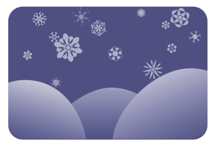banner royalty free stock Drawing snow scene. Winter clipart snowy scenes