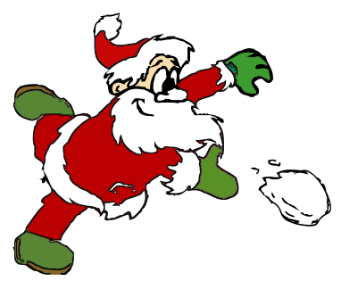 svg download Santa throwing snowball color
