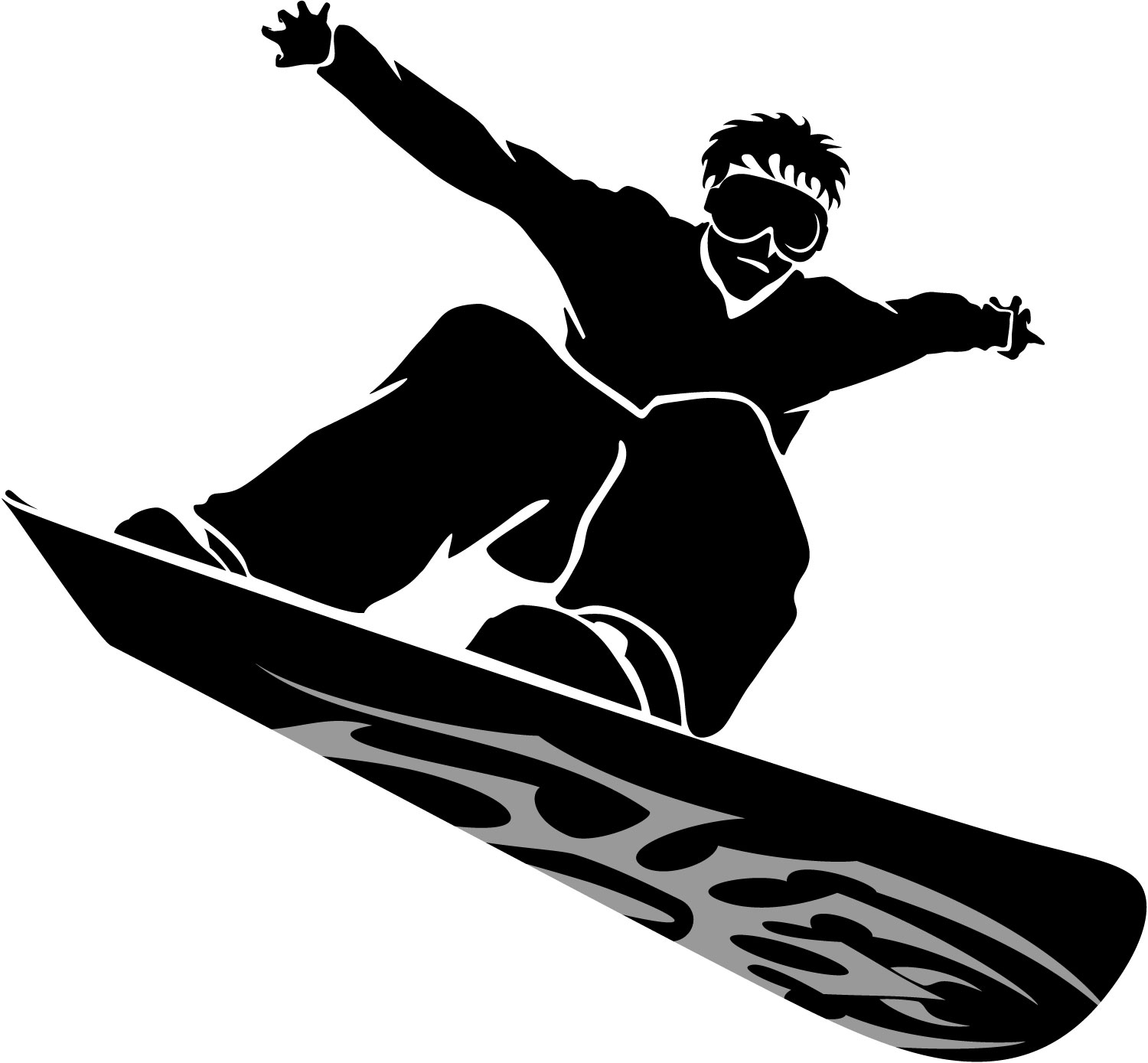 graphic black and white library Free snowboarder cliparts download. Snowboard clipart.