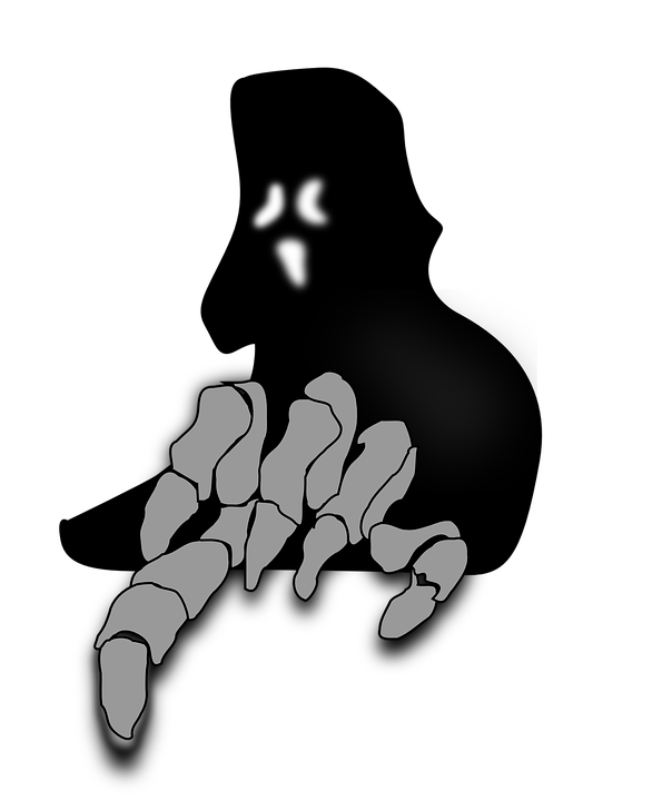 image library Scary clipart ghost outline