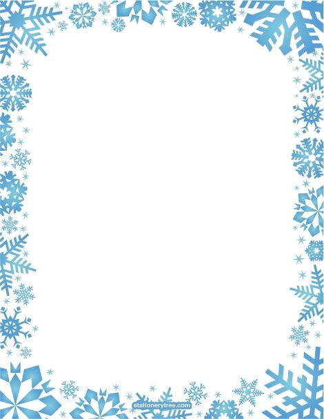 svg black and white stock Snowflake borders clipart. Free frame cliparts download