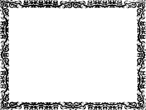 clip transparent stock Free religious page borders. Vector certificate border