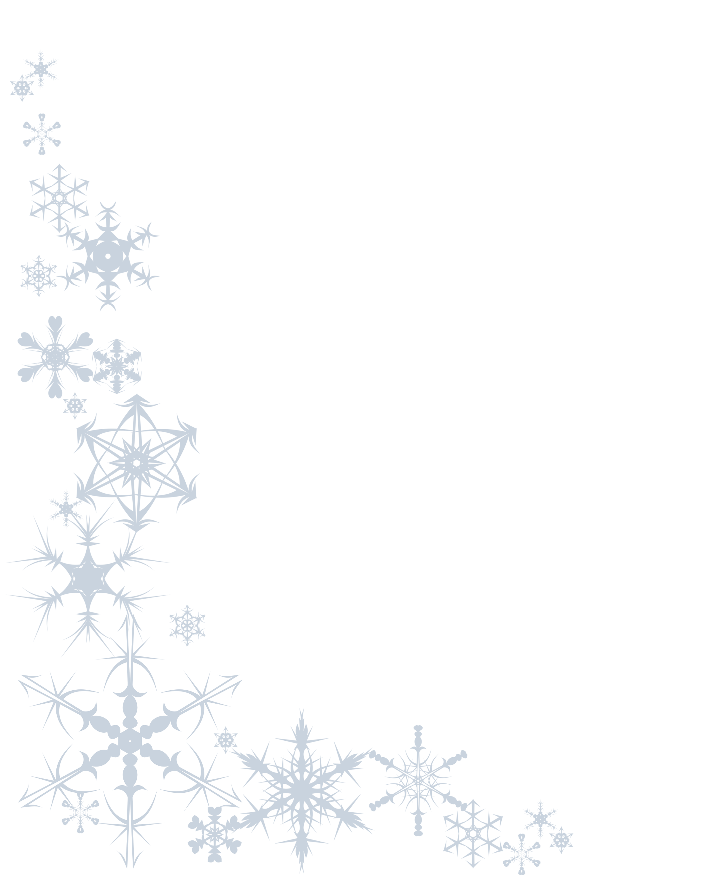 banner royalty free library Snowflake borders clipart. Free transparent border download.