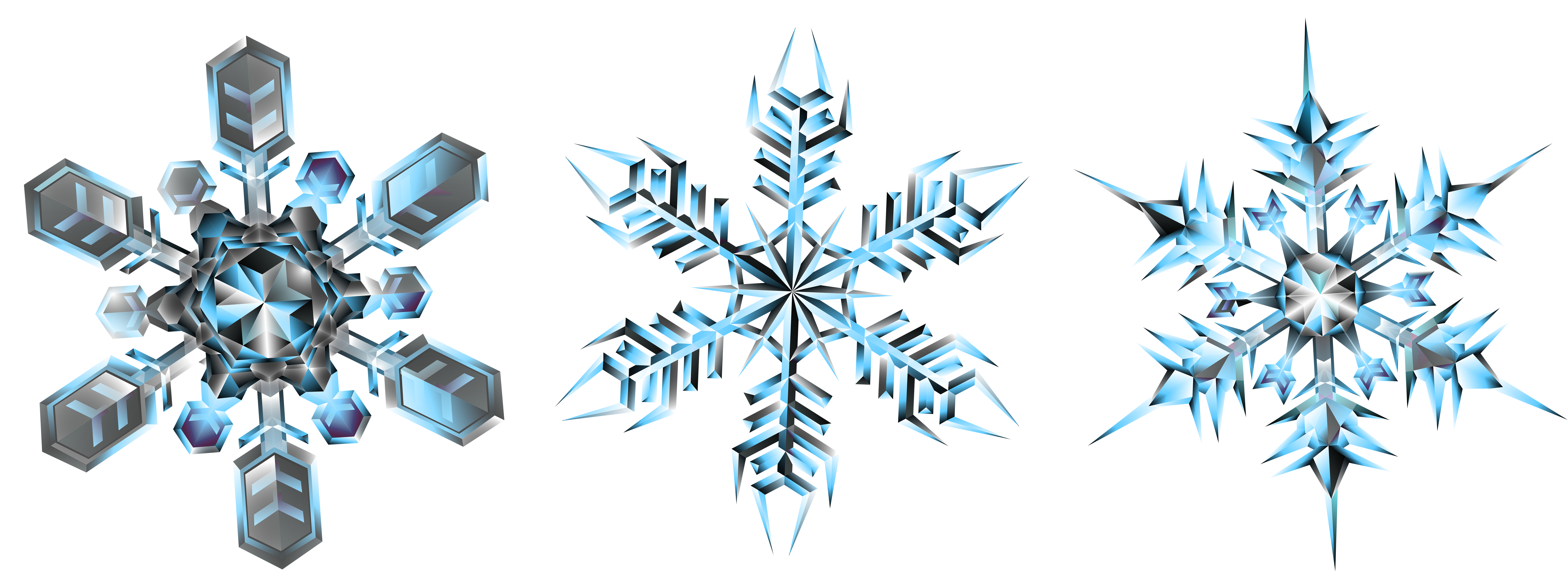 banner royalty free stock Snowflake border clipart transparent background. Crystal snowflakes png clip